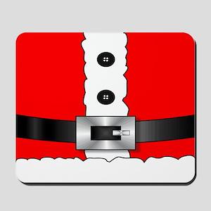 Christmas red santa suit Mousepad