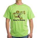 Kung Fu Monkey Green T-Shirt