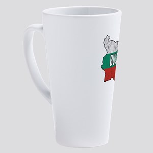 Patriotic Bulgarian Bulgaria Flag 17 oz Latte Mug