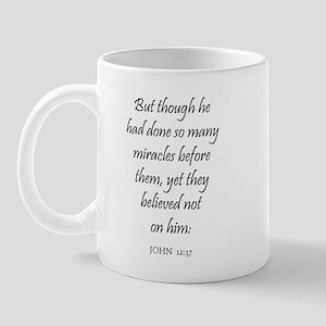 JOHN  12:37 Mug