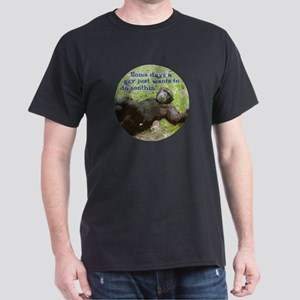 Funny Guy Doing Nothing Dark T-Shirt