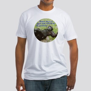 Funny Guy Doing Nothing Fitted T-Shirt