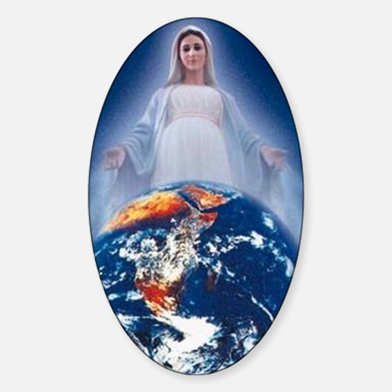 Queen of the World Oval Decal