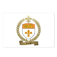 LOREAU Family Crest Postcards (Package of 8)