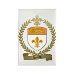 LOREAU Family Crest Rectangle Magnet (10 pack)