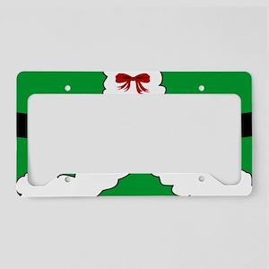 North Pole Christmas Elf License Plate Holder