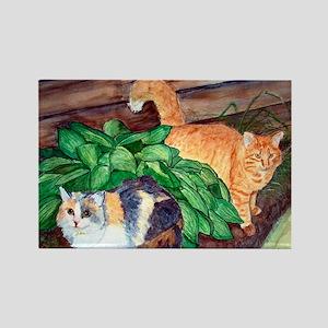 Cat Friends:Salem & Logan Rectangle Magnet