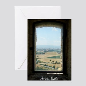 Assisi Window Landscape Greeting Card