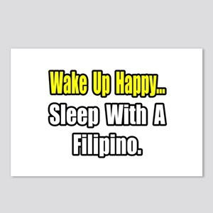 """""""..Sleep With a Filipino"""" Postcards (Package of 8)"""