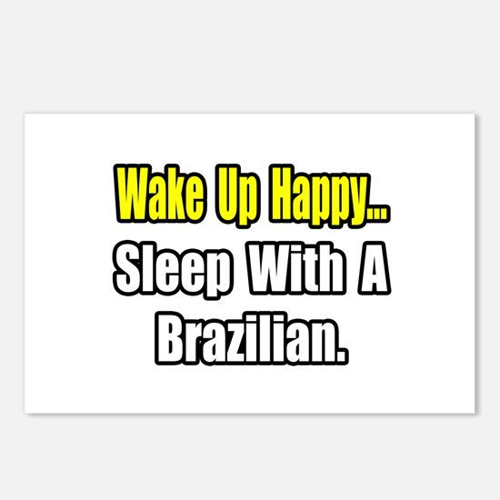 """""""..Sleep With a Brazilian"""" Postcards (Package of 8"""