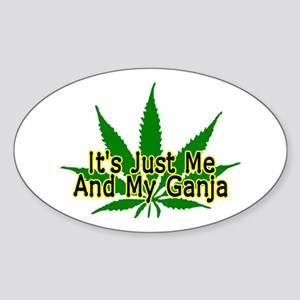 Me And My Ganja Oval Sticker