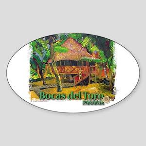 Bocas del Toro, Panama Oval Sticker