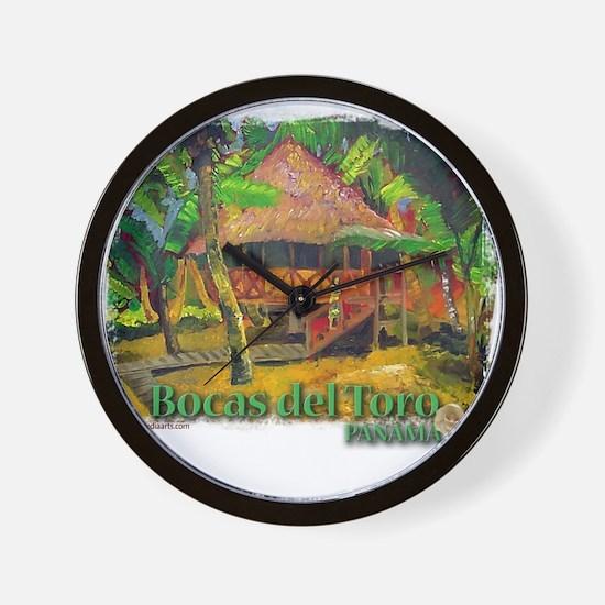 Bocas del Toro, Panama Wall Clock