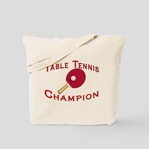 Table Tennis Champion Tote Bag