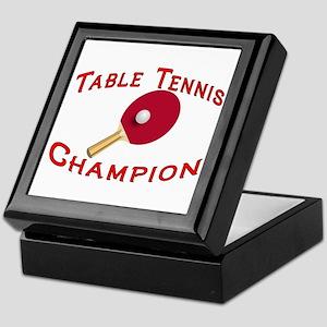 Table Tennis Champion Keepsake Box