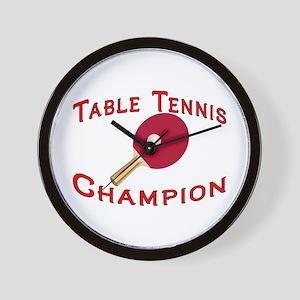 Table Tennis Champion Wall Clock