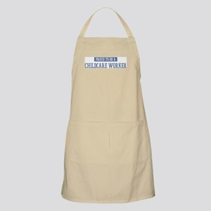Proud to be a Childcare Worke BBQ Apron