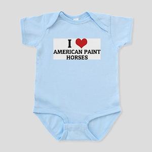 I Love American Paint Horses Infant Creeper