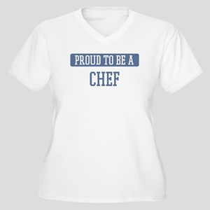 Proud to be a Chef Women's Plus Size V-Neck T-Shir