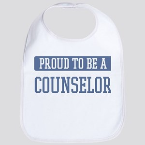 Proud to be a Counselor Bib