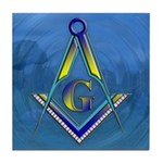 Masonic water scene Tile Coaster