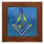 Masonic water scene Framed Tile