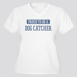 Proud to be a Dog Catcher Women's Plus Size V-Neck