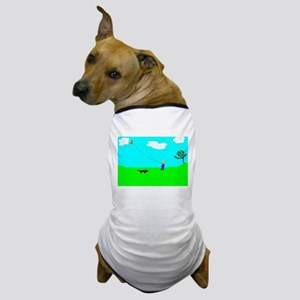 Flying a Kite Dog T-Shirt