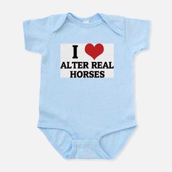 I Love Alter Real Horses Infant Creeper