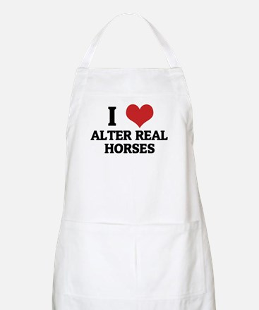 I Love Alter Real Horses BBQ Apron