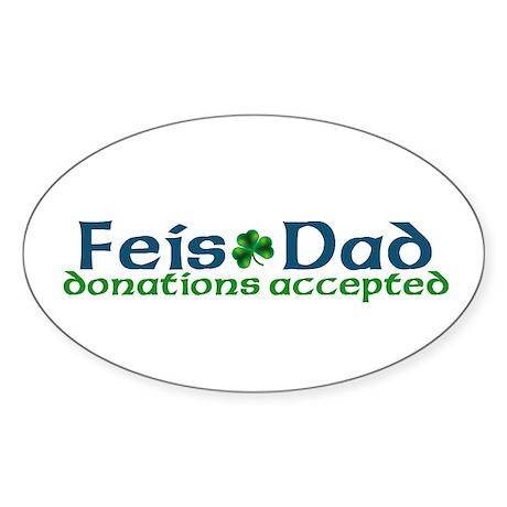 Feis Dad Oval Sticker