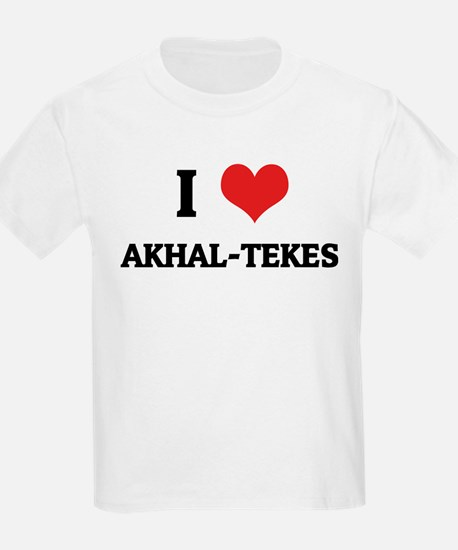 I Love Akhal-Tekes Kids T-Shirt
