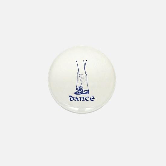 Blue Ghillies Dance Graphic Mini Button