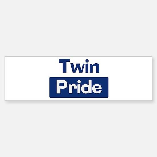 Twin Pride Bumper Bumper Bumper Sticker