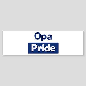 Opa Pride Bumper Sticker