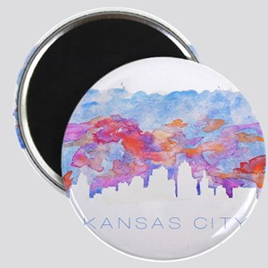 Kansas City Skyline Watercolor Magnets