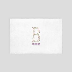 Floral Letter B Monogram 4' x 6' Rug