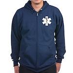 EMS Star of Life Zip Hoodie (dark)