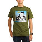 Orca with Penguins Organic Men's T-Shirt (dark)
