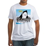 Orca with Penguins Fitted T-Shirt