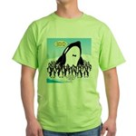 Orca with Penguins Green T-Shirt