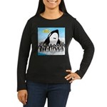 Orca with Penguin Women's Long Sleeve Dark T-Shirt