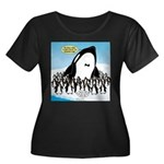 Orca wit Women's Plus Size Scoop Neck Dark T-Shirt