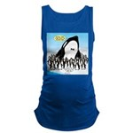 Orca with Penguins Maternity Tank Top