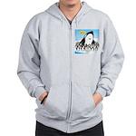 Orca with Penguins Zip Hoodie
