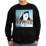 Orca with Penguins Sweatshirt (dark)