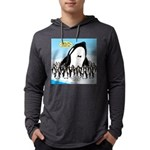 Orca with Penguins Mens Hooded Shirt