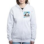 Orca with Penguins Women's Zip Hoodie