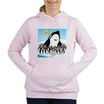 Orca with Penguins Women's Hooded Sweatshirt