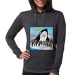 Orca with Penguins Womens Hooded Shirt